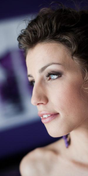 """Kasia Szelejewska, Kolczyki sutasz """"Wedding Violet"""""""