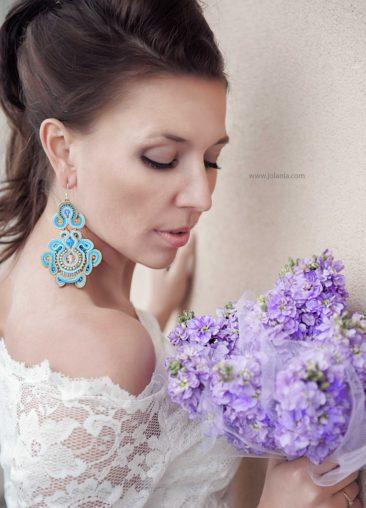 """Jolania Photography, Kolczyki ślubne sutasz """"Heaven"""
